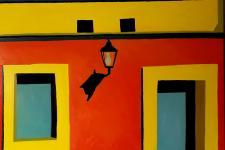 "Sharon Coulson Downes ""Oaxacan Doorway"" oil painting"