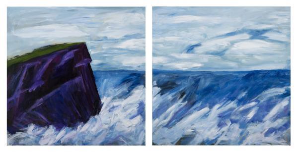Bundoran Sea, diptych