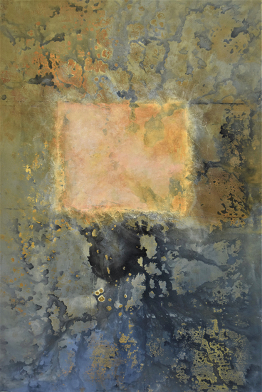 image of painting by artist Martha Hope Carey entitled Angle of Incidence